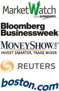 MarketWatch, Bloomberg, MoneyShow, etc.
